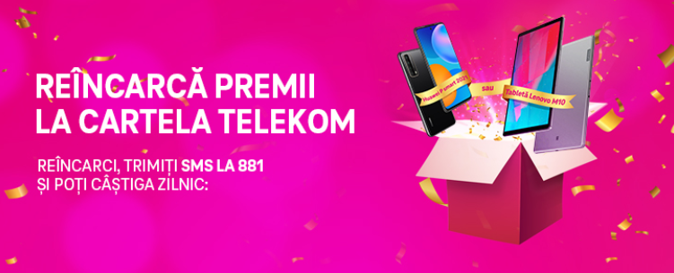 Concurs Telekom - Castiga 20 Tablete Lenovo M10 - reincarca - premii - cartela - 2021 - telefon - gratis - castiga.net