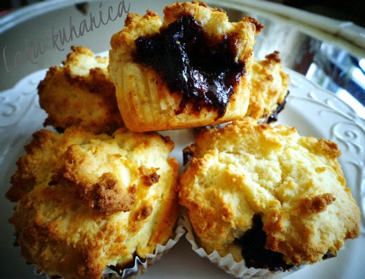 Hazelnut plum muffins by Laka kuharica: scrumptious version of the beloved Croatian cake.