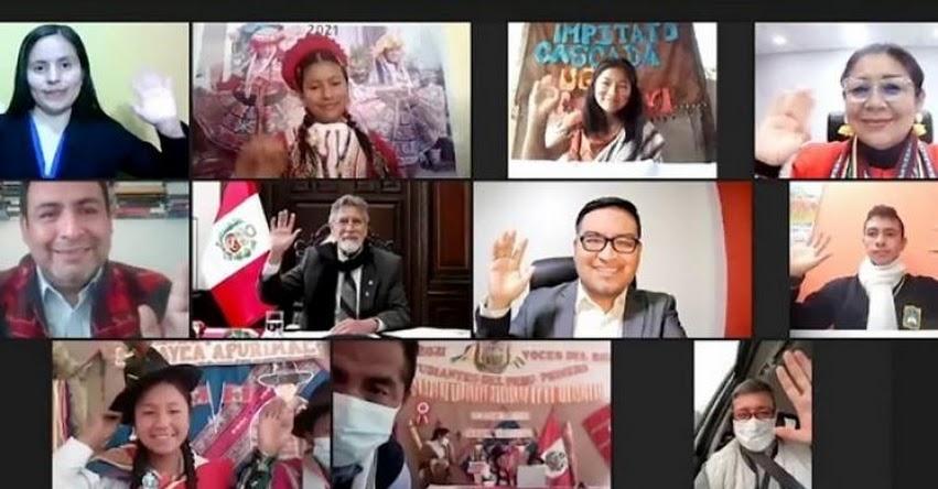 MINEDU: Estudiantes dialogan con presidente Sagasti y ministro Cuenca