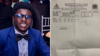 Student Breaks 50 Years Jinx In Th Department Of Political Science, ABU Zaria