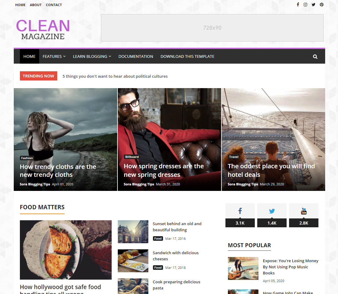 How To Setup CleanMagazine Blogger Template