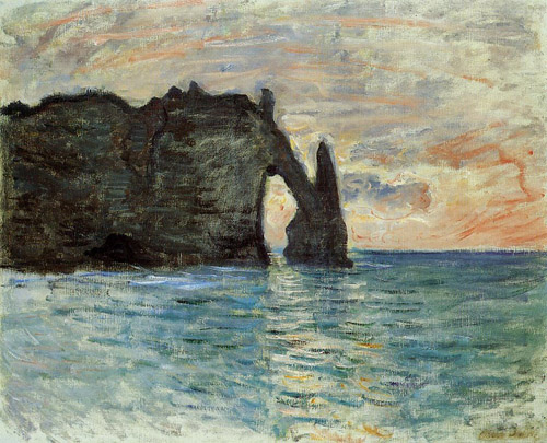Etretat Great Maritime Art the Porte d'Aval; 1890 EUGENE BOUDIN