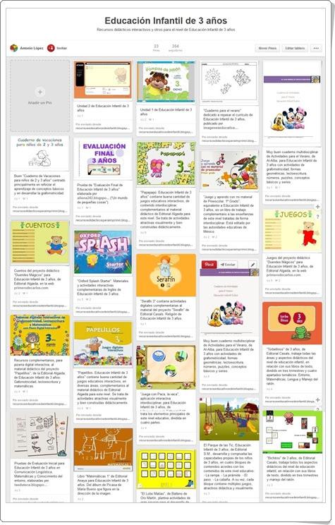 """""""Conjunto de juegos y actividades de Educación Infantil de 3 años"""""""