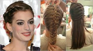 Modelos penteados com trança raiz