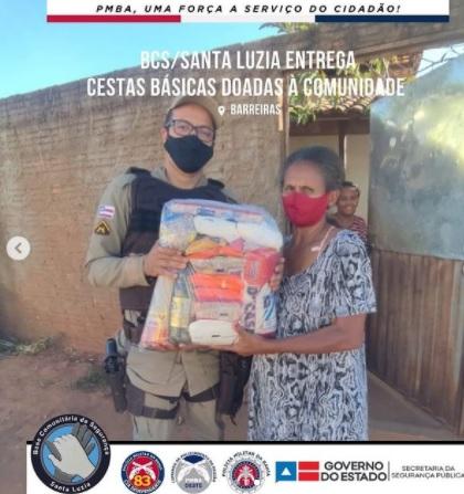 Barreiras: 83ª CIPM realiza  doação referente a campanha Força Solidária