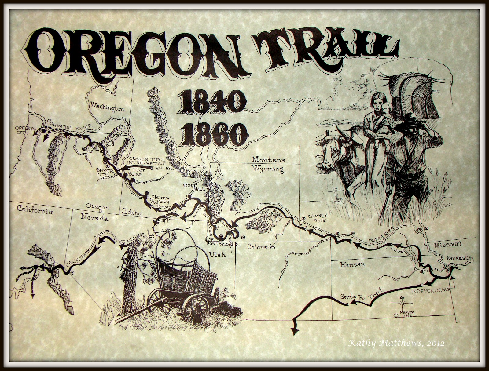 The Early Oregon Series Via The Oregon Trail And