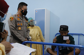 Kejar Here Imminity Polresta Malang Gelar Vaksinasi Lansia Di Panti Jompo