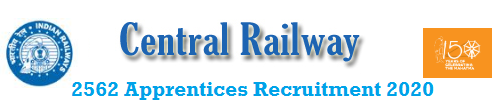 Central Railway 2562 Apprentices Recruitment 2020