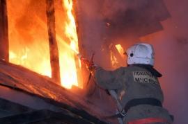 пожар п. Алтынай ул. Вокзальная. 117 ПСЧ