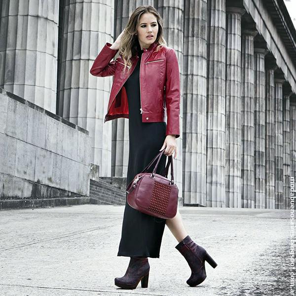 Moda otoño invierno 2016 Corium camperas de cuero, carteras, bolsos botas y zapatos de moda otoño invierno 2016.