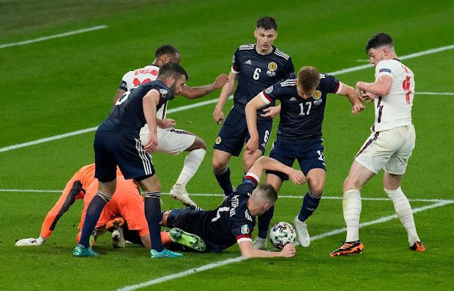 England and Scotland players euro 2020