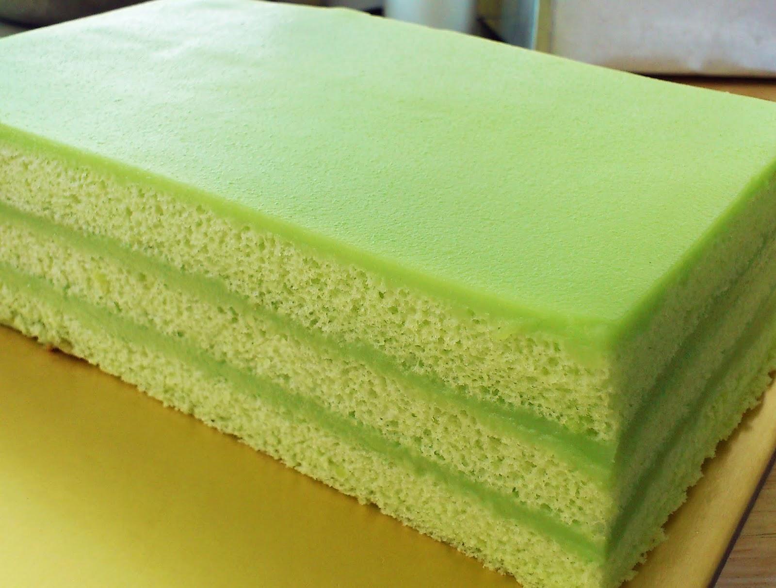 3-layer pandan kaya cake