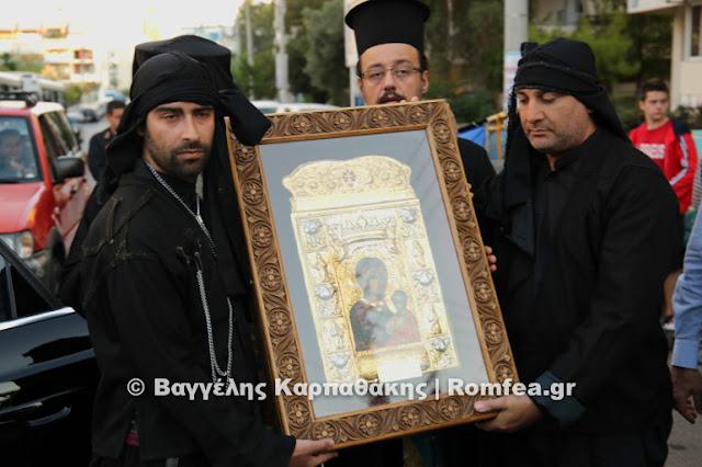 Με κάθε επισημότητα η υποδοχή της Ιεράς Εικόνας της Παναγιάς Σουμελά στην Δραπετσώνα