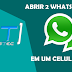 Como utilizar duas conta do WhatsApp em um celular