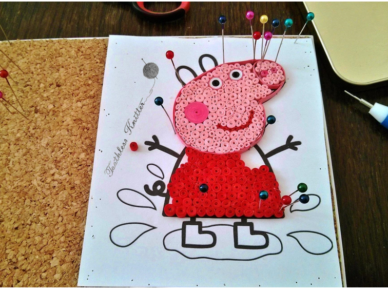 Quilled Peppa Pig / Quillingowa Świnka Peppa