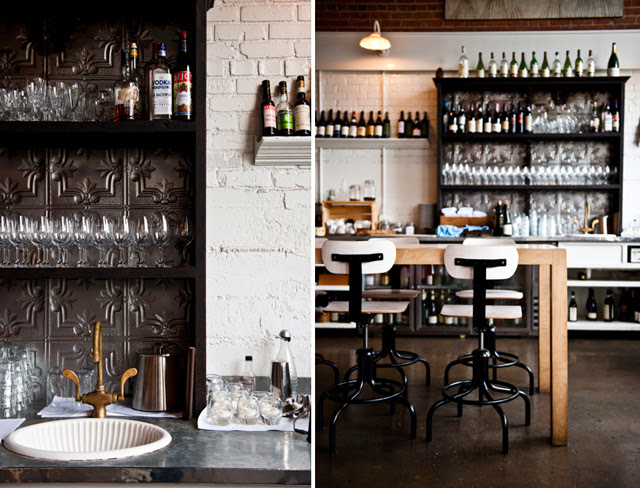 Kaper Design  Restaurant   Hospitality Design Inspiration  Sitka     Located in Melrose Market  a vintage auto garage dating back to 1919 and  1928 respectively  Sitka   Spruce has quickly climbed to the top of my  Seattle