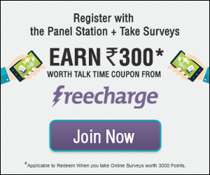 Panel Station:- Take part in Surveys And Grab Voucher/gift Card (flipkart,amazon,snapdeal)