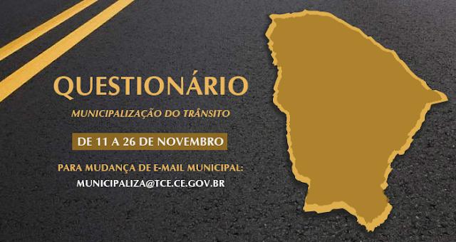 TCE Ceará realiza Levantamento Municipalização do Trânsito