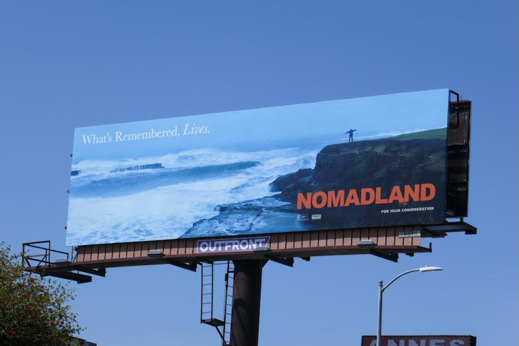 Nomadland Oscar nominee FYC billboard