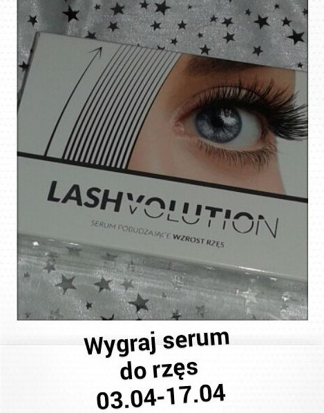 Wygraj serum do rzęs Lashvolution 03.04 - 17.04 INSTAGRAM