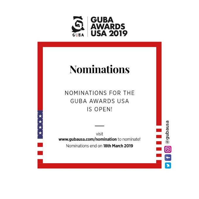 Nominations open for GUBA Awards USA 2019