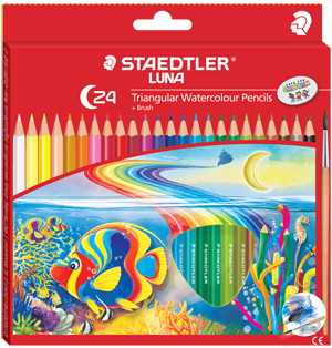 Staedtler Luna Watercolour Pencils + Brush C-24