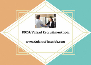 DRDA Valsad Recruitment 2021 For Data Entry Operator And Other Post