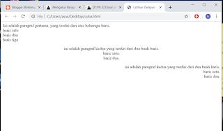 penggunaan tag br untuk membuat teks pada baris baru pada laman html