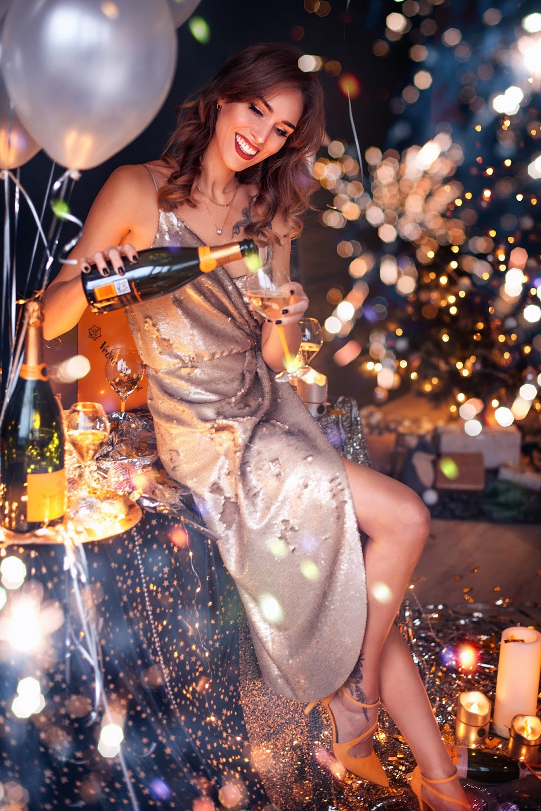 champagne celebration photography
