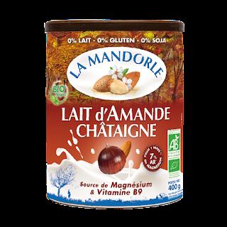 lait d'amande châtaigne La Mandorle