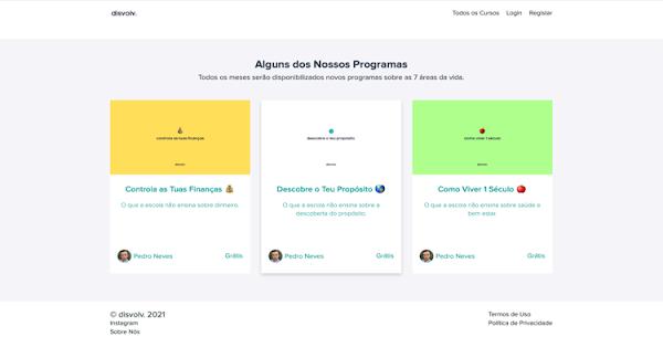 Disvolv: A primeira plataforma de educação 100% gratuita em Portugal
