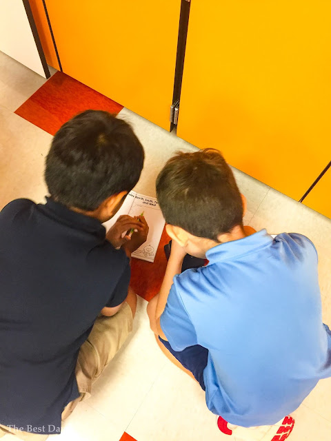 Boy TWEETING their classroom