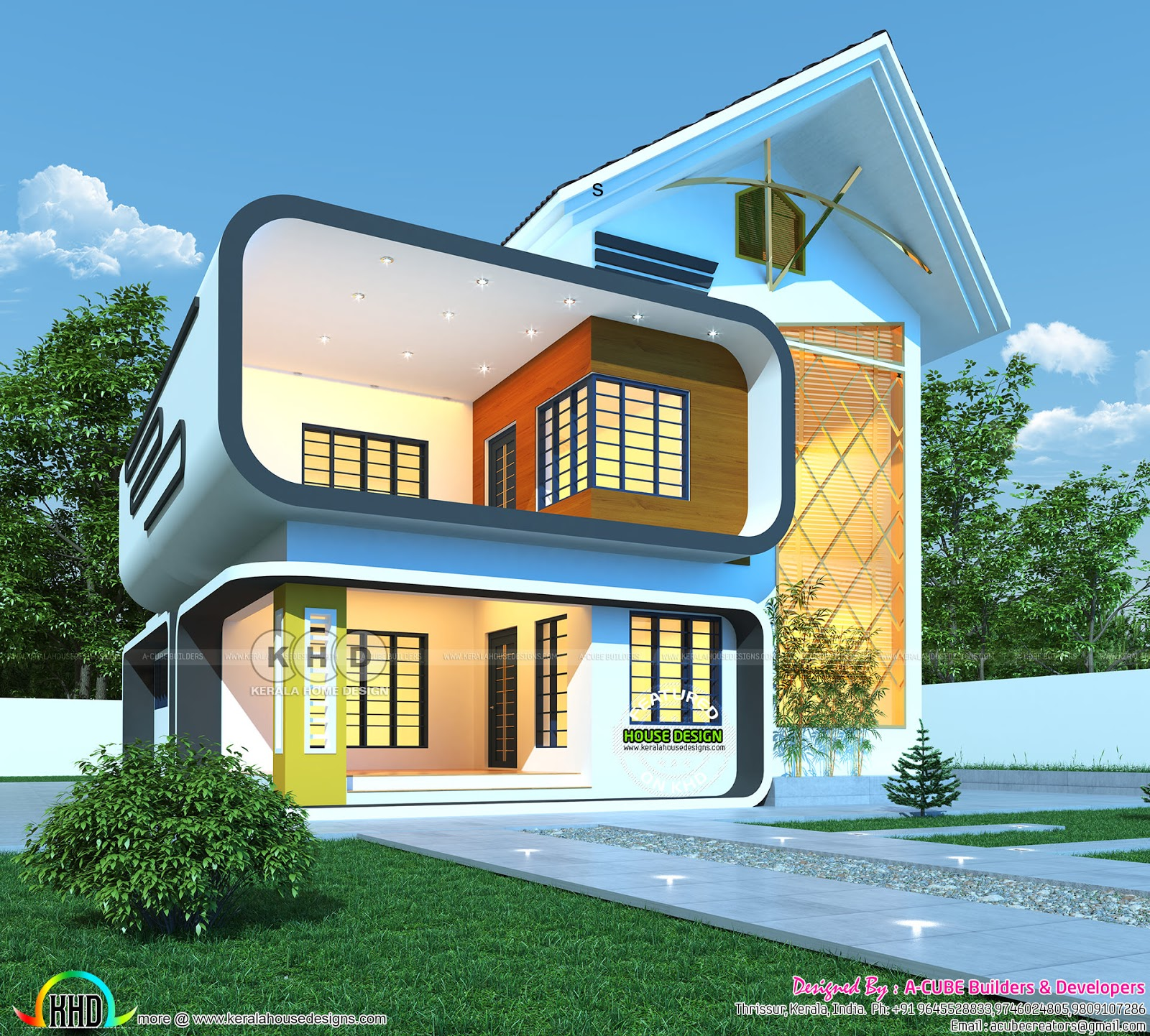 2350 square feet ultra modern home plan - Kerala home ...
