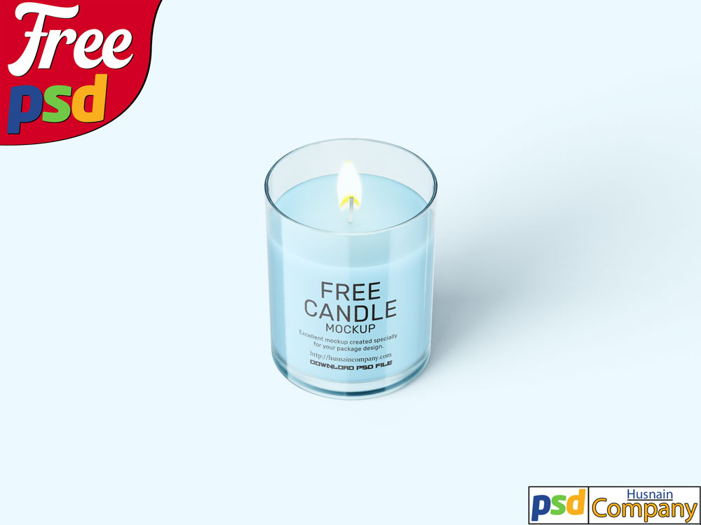 Download Free Candle PSD Mockup #4