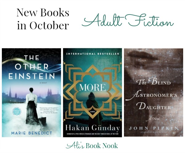 Recent Release Fiction for Adults in October