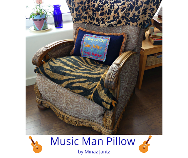Music Man Pillow by Minaz Jantz