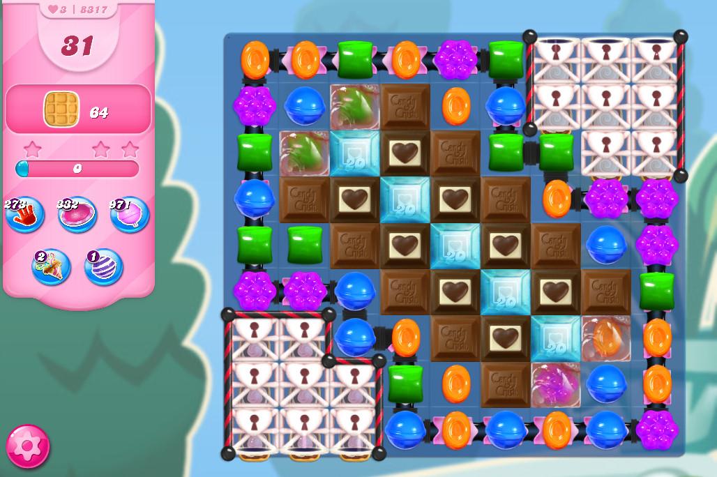 Candy Crush Saga level 8317