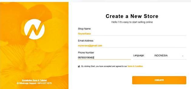 cara membuat buat toko online di avana