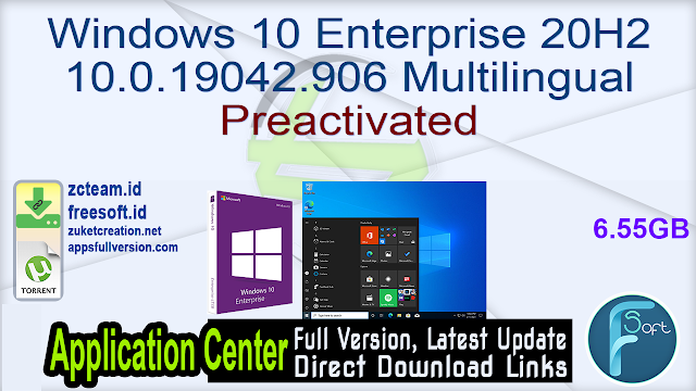 Windows 10 Enterprise 20H2 10.0.19042.906 Multilingual Preactivated
