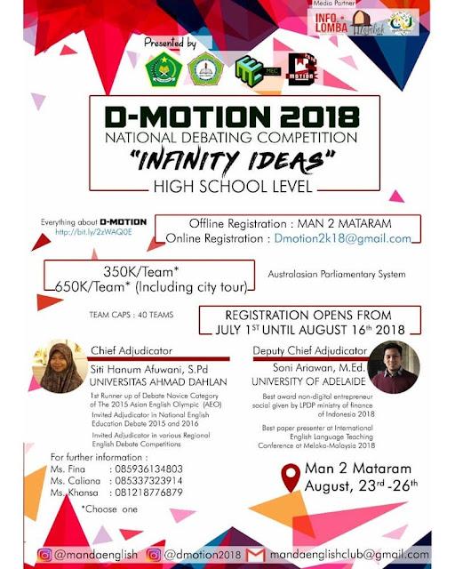 Lomba Debat Nasional D-Motion 2018