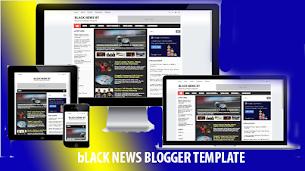 Black News Theme Premium Blogger Template - Responsive Blogger Template