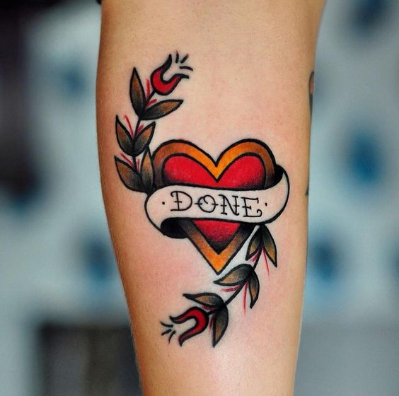 95 Most Popular Foot Tattoos For Women 2018 Updated: Mytattooland.com: Heart Tattoo Designs