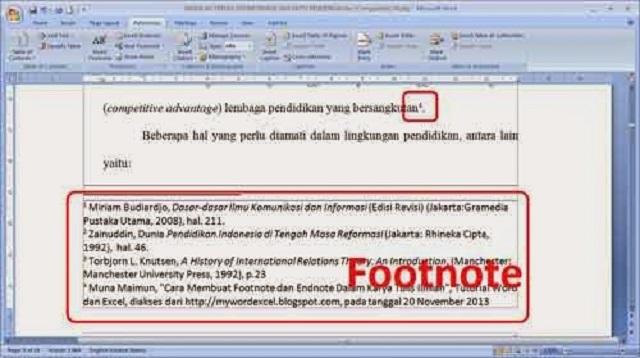 Cara Buat Footnote