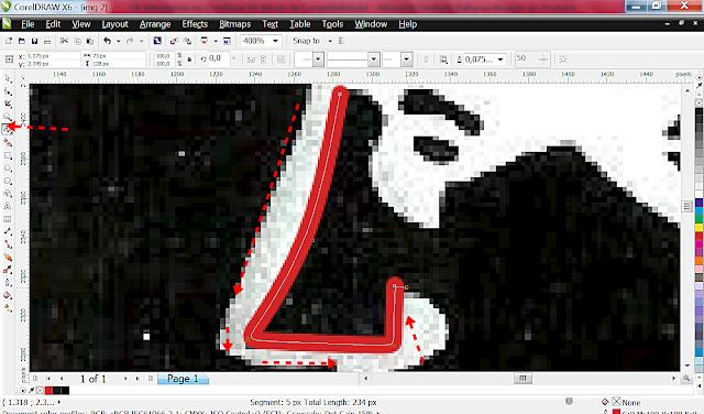 Vamos clicando na imagem e contornando por dentro do contorno que você vê ali na imagem. Segue o passo a passo.