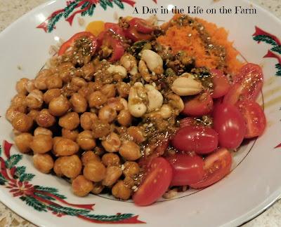 Asian Rice Salad with Matcha Ginger Dressing