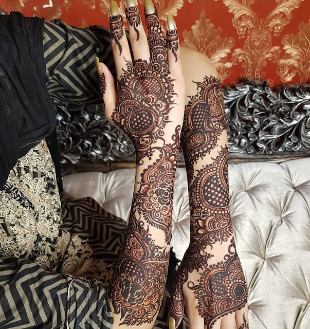 latest simple arabic mehndi designs for hands 2012 images