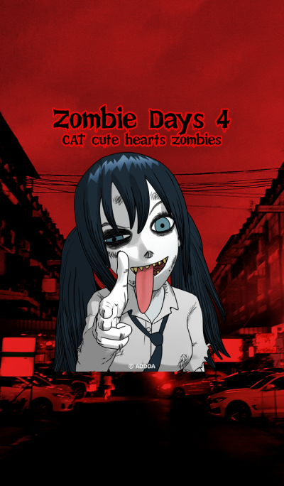 Zombie Days 4 CAT cute hearts zombies