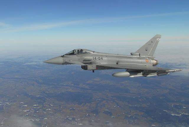 200 horas de vuelo de los Eurofighter españoles en el destacamento VILKAS