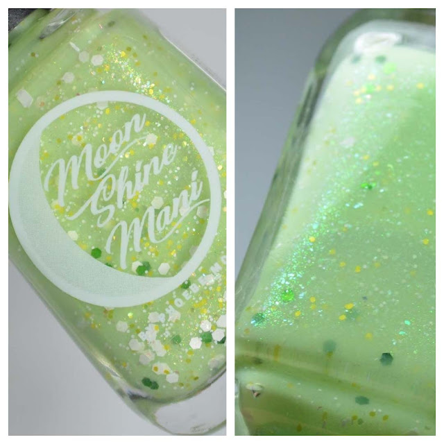 key lime nail polish in a bottle