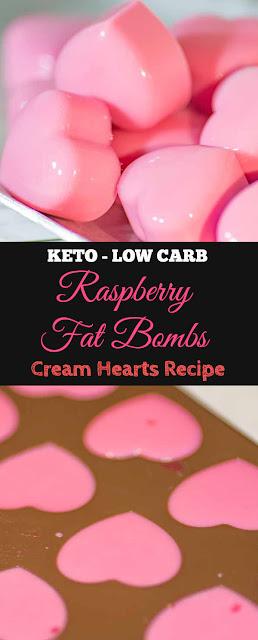 Easy Keto Low Carb Raspberry Fat Bombs #keto #lowcarb #raspberry #fatbombs #snacks #healthysnacks #desserts #easyrecipe